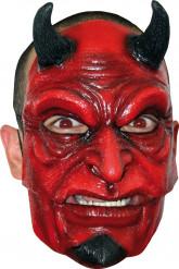 Máscara de diablo con cuernos adulto Halloween