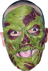 Máscara de zombi verde adulto Halloween