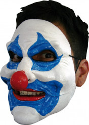 Máscara de payaso azul adulto Halloween