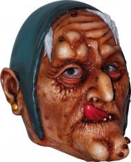 Máscara de vieja bruja Halloween