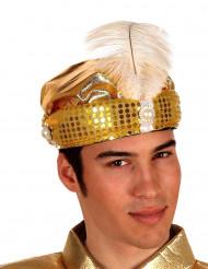 Sombrero árabe dorado para adulto