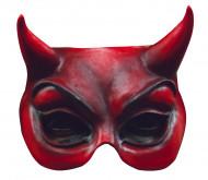 Semi máscara de diablo rojo