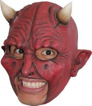 Máscara de demonio con cuernos adulto Halloween