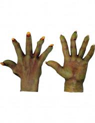Guantes de monstruo veerde adulto Halloween