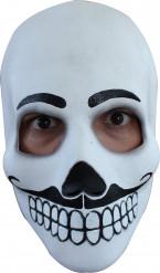 Máscara rostro blanco adulto Día de los Muertos