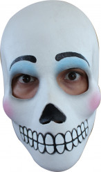 Máscara de rostro blanco mujer Día de los Muertos