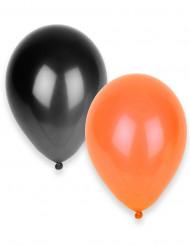 Globos negros y naranjas para Halloween