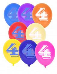 10 globos número 4