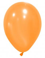 10 globos naranjas 25 cm