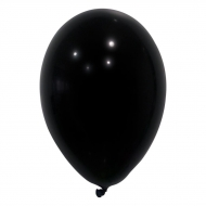 24 globos de color negro de 25 cm