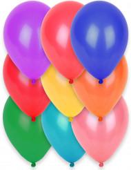 12 globos de diferentes colores de 28 cm