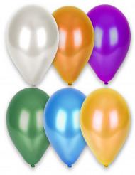 12 globos de diferentes colores metalizados