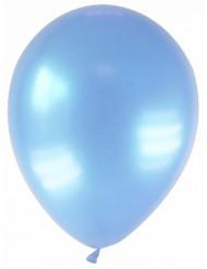 12 globos de color azul claro metalizado