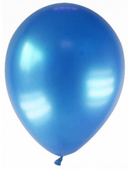 12 globos de color azul oscuro metalizado