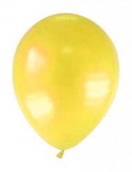 12 globos de color amarillo metalizado