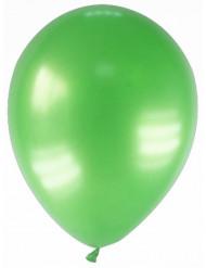 12 globos de color verde metalizado