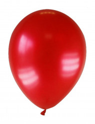 12 globos de color rojo oscuro metalizado