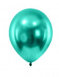 12 globos de color verde oscuro metalizado