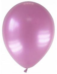 12 globos de color rosa metalizado