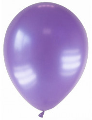 12 globos de color violeta metalizado