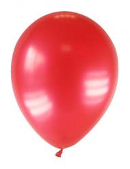 12 globos de color rojo metalizado