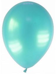 12 globos turquesa metalizado