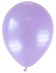 12 globos lavanda metalizados