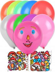 10 globos personalizables