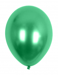 100 Globos metálicos verdes 29 cm