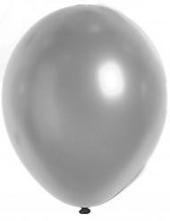 100 globos metálicos color plata 29 cm