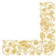 20 Servilletas doradas 33x33 cm