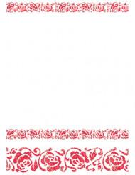 Mantel rosas rojo