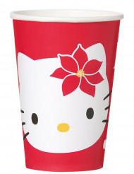 8 Vasos Hello Kitty™ Navidad