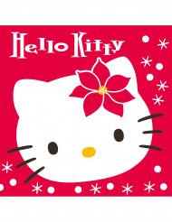 20 Servilletas papel Hello Kitty™ Navidad 40x40 cm