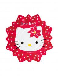 8 Platos pequeños Hello Kitty™ Navidad