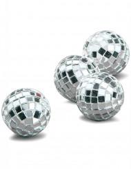 4 Mini bolas lados plateados