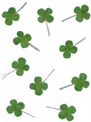12 tréboles verdes