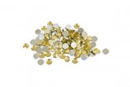 Confetis de mesa redondos dorados