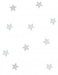 10 mini espejos estrellas plateadas
