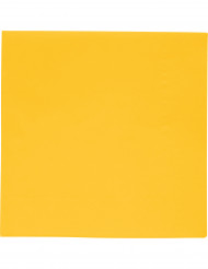 20 Servilletas amarillas papel espesas 33x33 cm