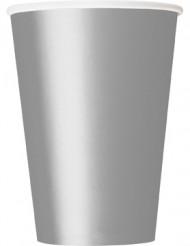 Vasos de cartón plateado