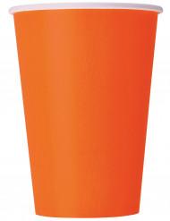 10 vasos de cartón naranja