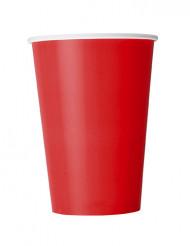 10 Vasos rojos de cartón 355 ml
