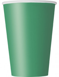 Vasos verde esmeralda