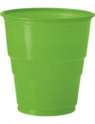 12 Vasos plástico verde lima
