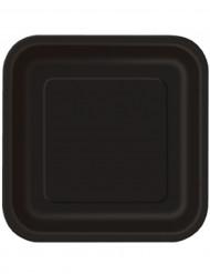14 platos grandes de cartón negros