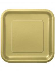 Platos grandes dorados