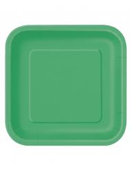 Platos grandes verde esmeralda