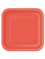 Platos grandes rojos