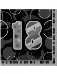 16 servilletas de papel 18 años grises 33 x 33 cm